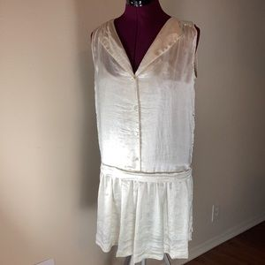 Theory Satin-like, Drop Waist dress